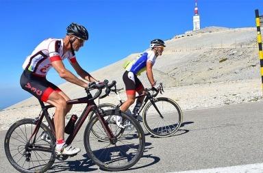 cyclisme au Mont Ventoux avec Olivier