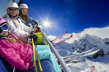 station de ski en famille