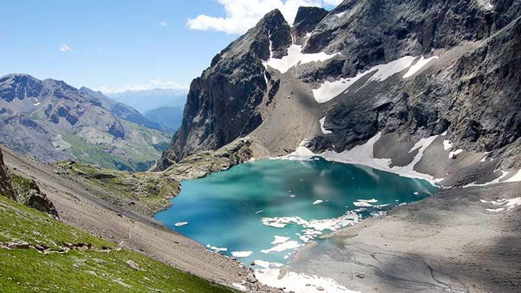 Randonnée lac en montagne, Lac de l'Eychauda