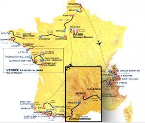 tour de France logements - Massif Central et Languedoc