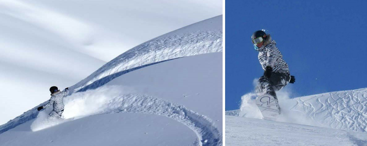 Snowboard dans les Pyrénées