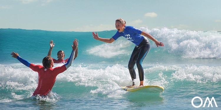 se mettre au surf