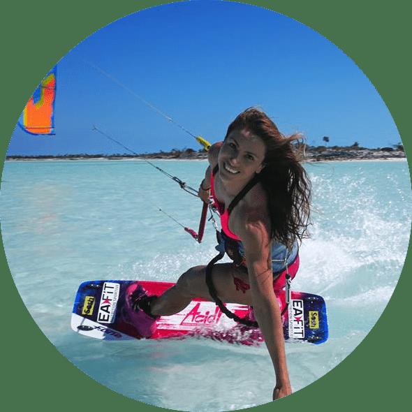 Charlotte Consorti kitesurf