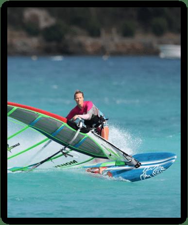 Delphine cousin - windsurf