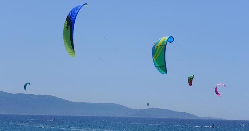 kiteboarding in the mediterranean - Ajaccio plage du ricanto