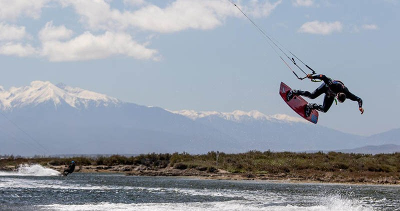 kiteboarding in the mediterranean - Barcares