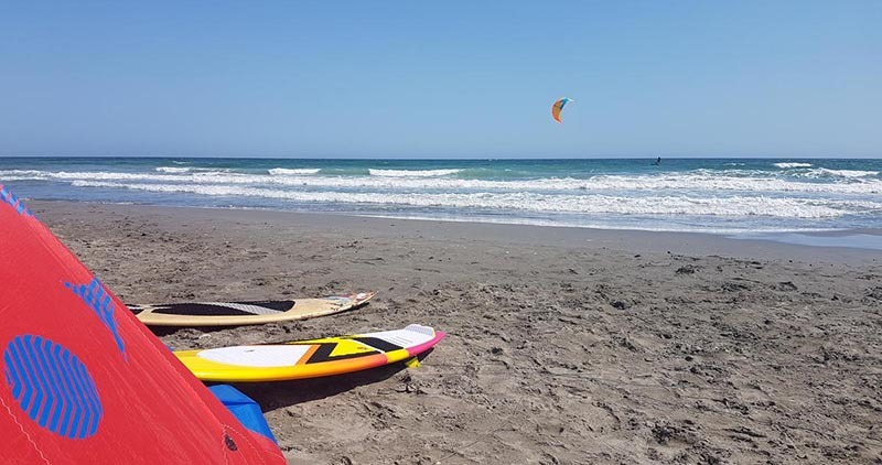 kiteboarding in the mediterranean - Saintes Maries de la Mer