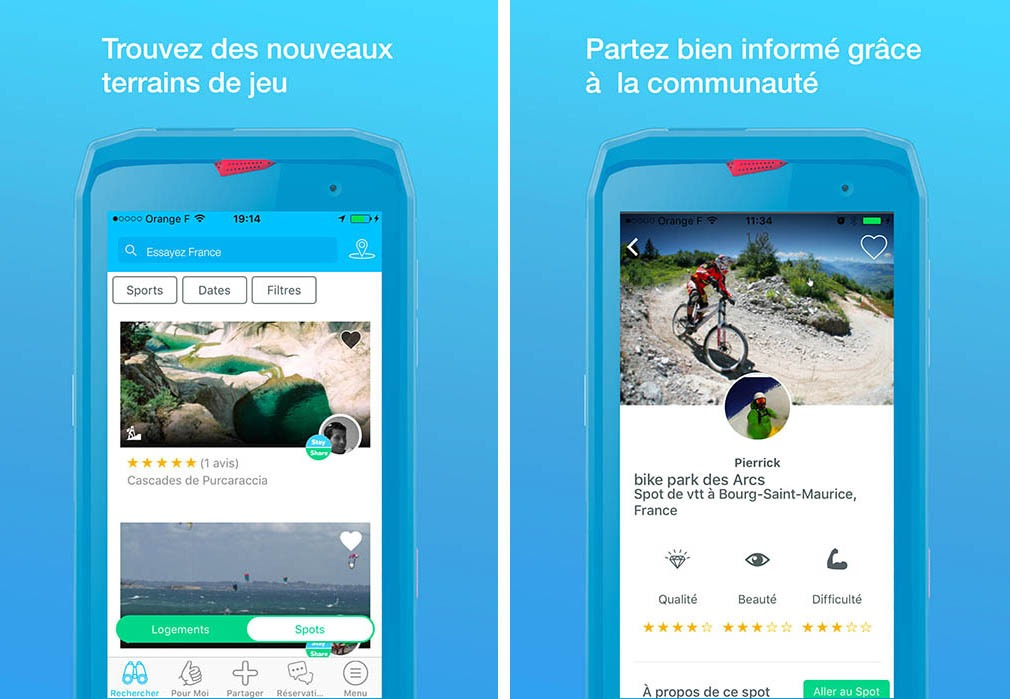 spots et information - application sportihome