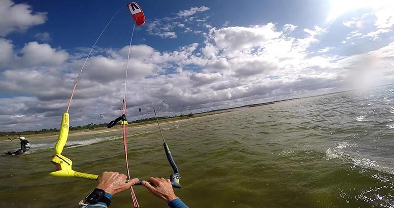 kitesurfing on the atlantic coast - lac d hourtin