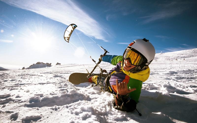 snowkite activite hiver