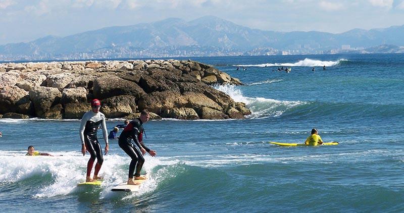 Surf en mediterranée - Marseille