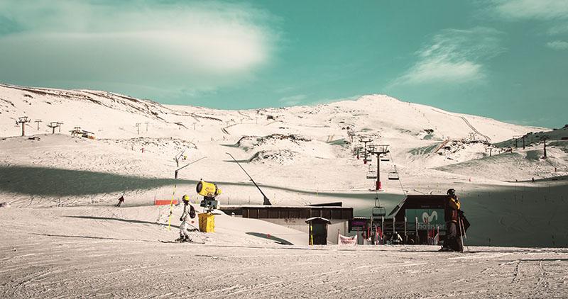 Ski à la Sierra Nevada
