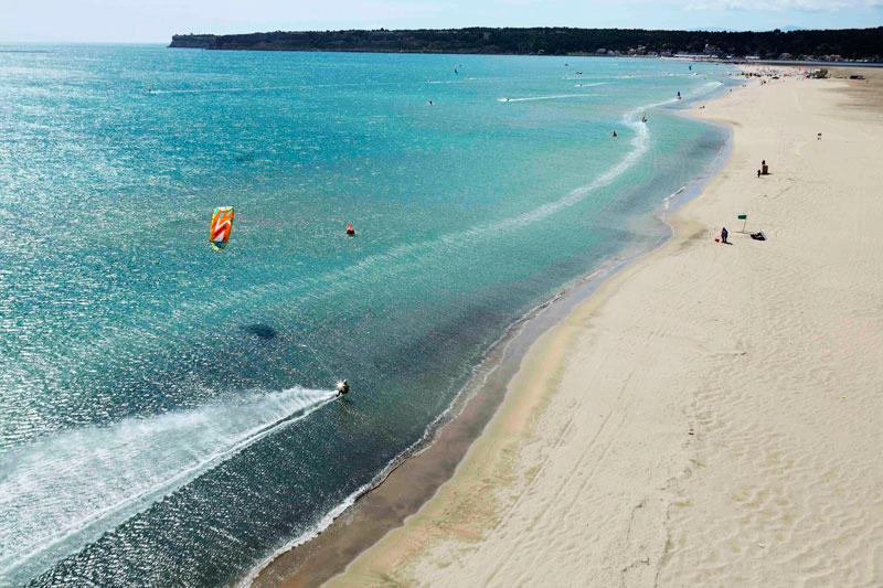 Le spot de kitesurf deLa Franqui