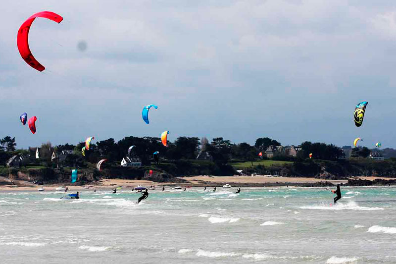 Le spot de kitesurf deLancieux