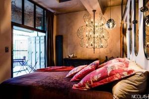 Chambre mauve avec hammam Chalet - Chambre privée - 2 Voyageurs - 1 Chambre