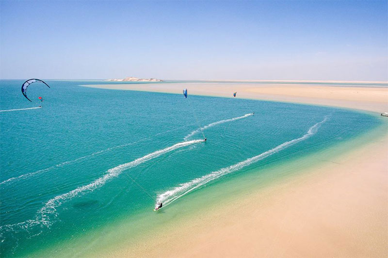 Spot kitesurf Dakhla, Maroc