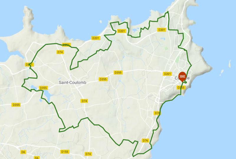 carte rando VTT en Bretagne, autour de Cancale
