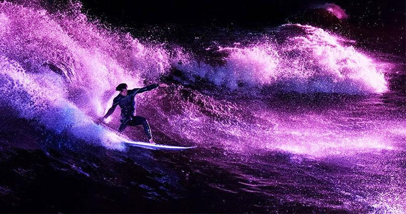 le surf de nuit