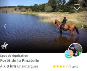 spot d'équitation foret de la pinatelle