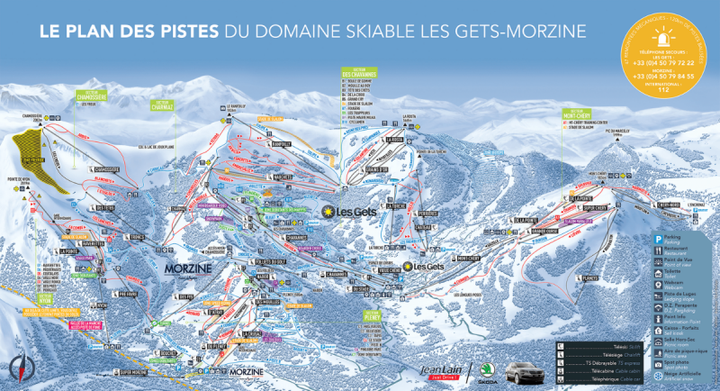 les gets plan des pistes station de ski haute savoie