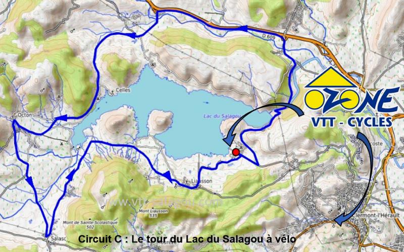 lac du salagou carte