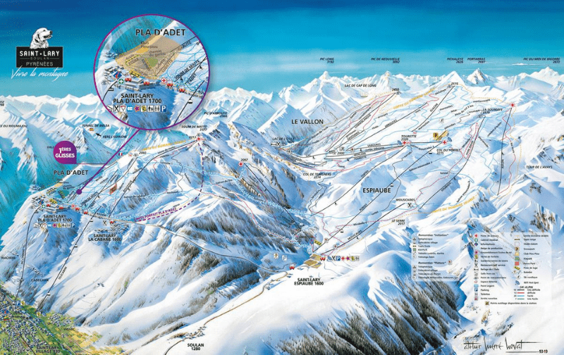 Plan piste Saint Lary