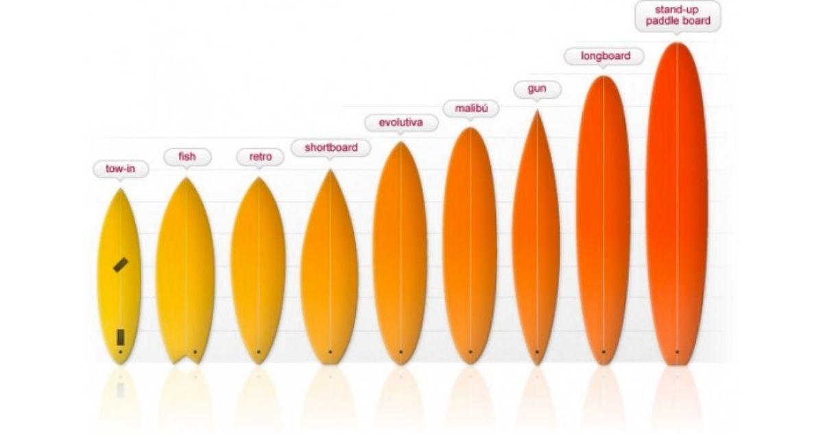 taille de planche de surf