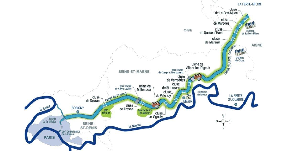 plan canal de l'ourcq