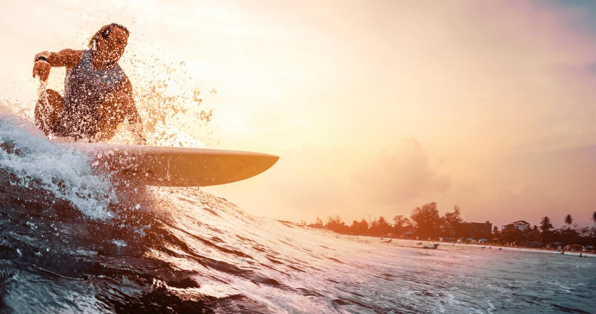 sunset surf ile de ré