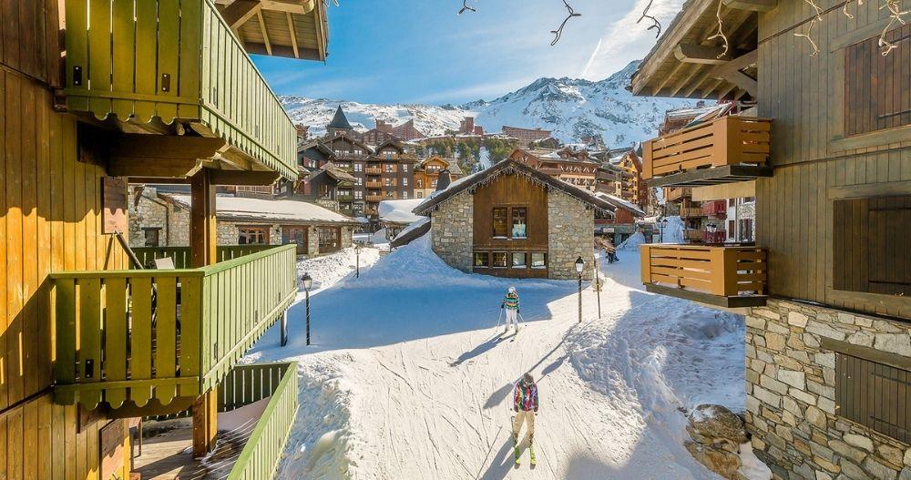 station de ski en train