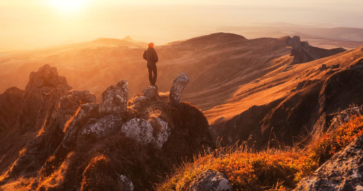 GR30 Puy de Sancy coucher de soleil