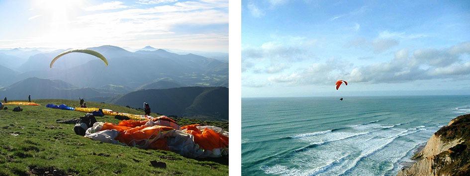 Parapente côte basque